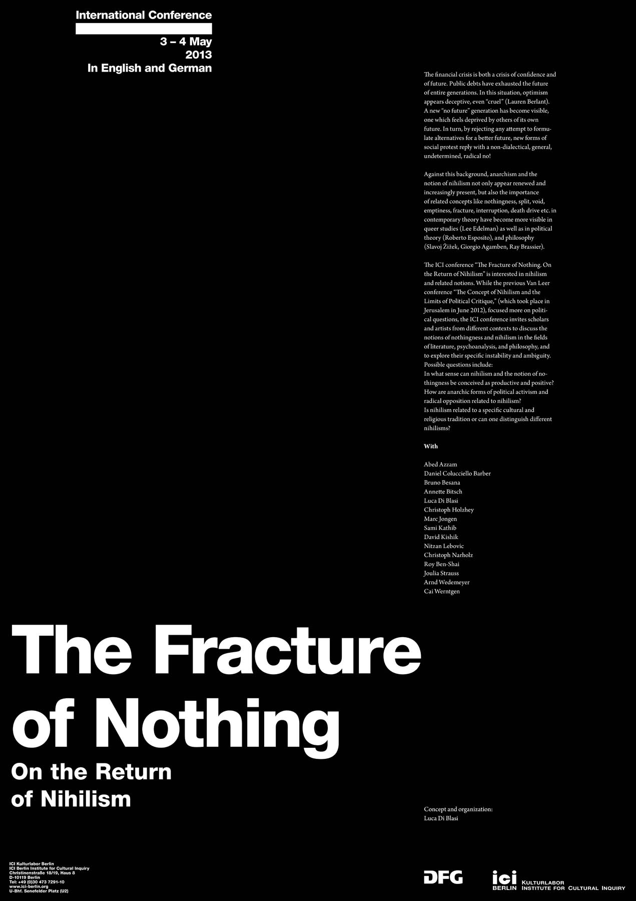Poster The Fracture of Nothing