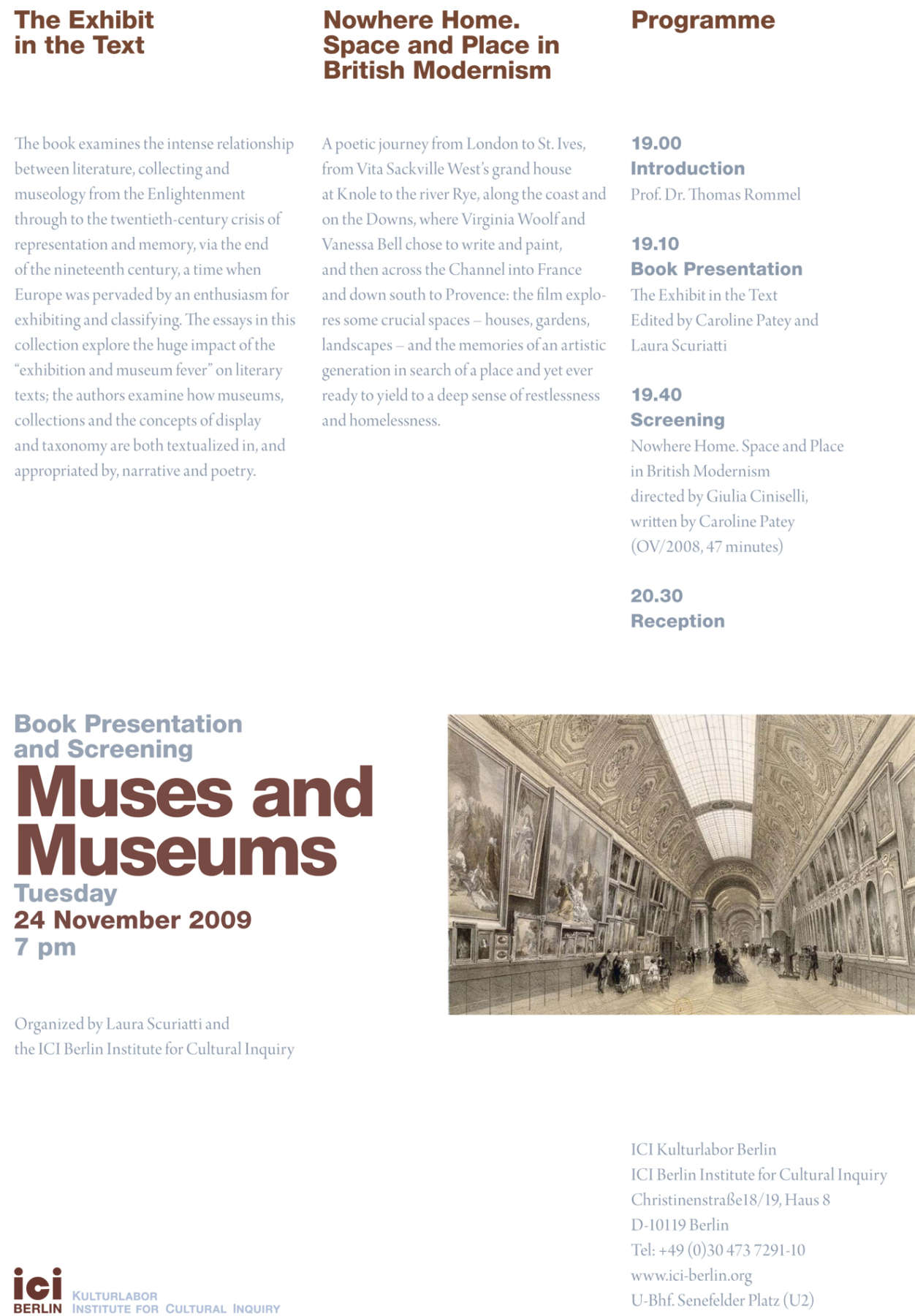 Flyer Muses and Museums