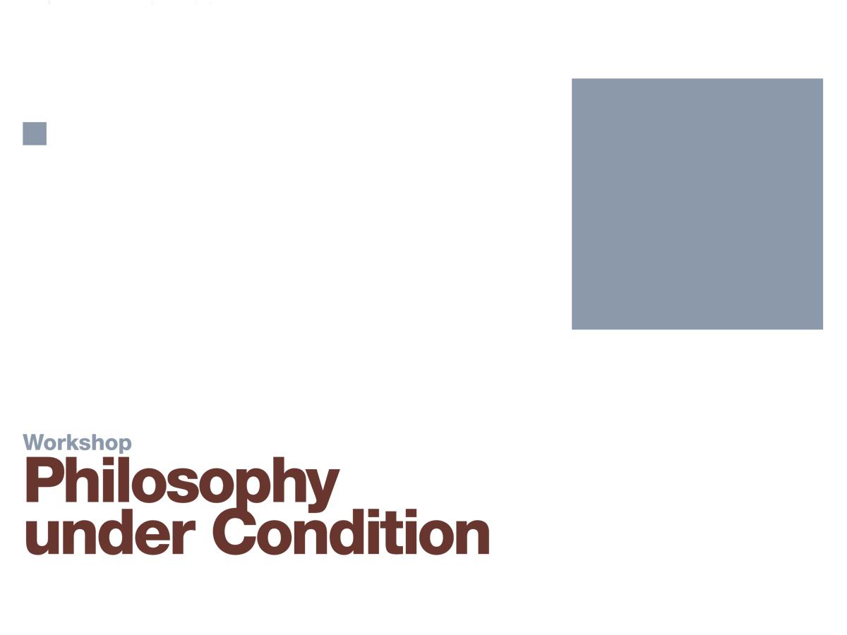 KV Philosophy Under Condition