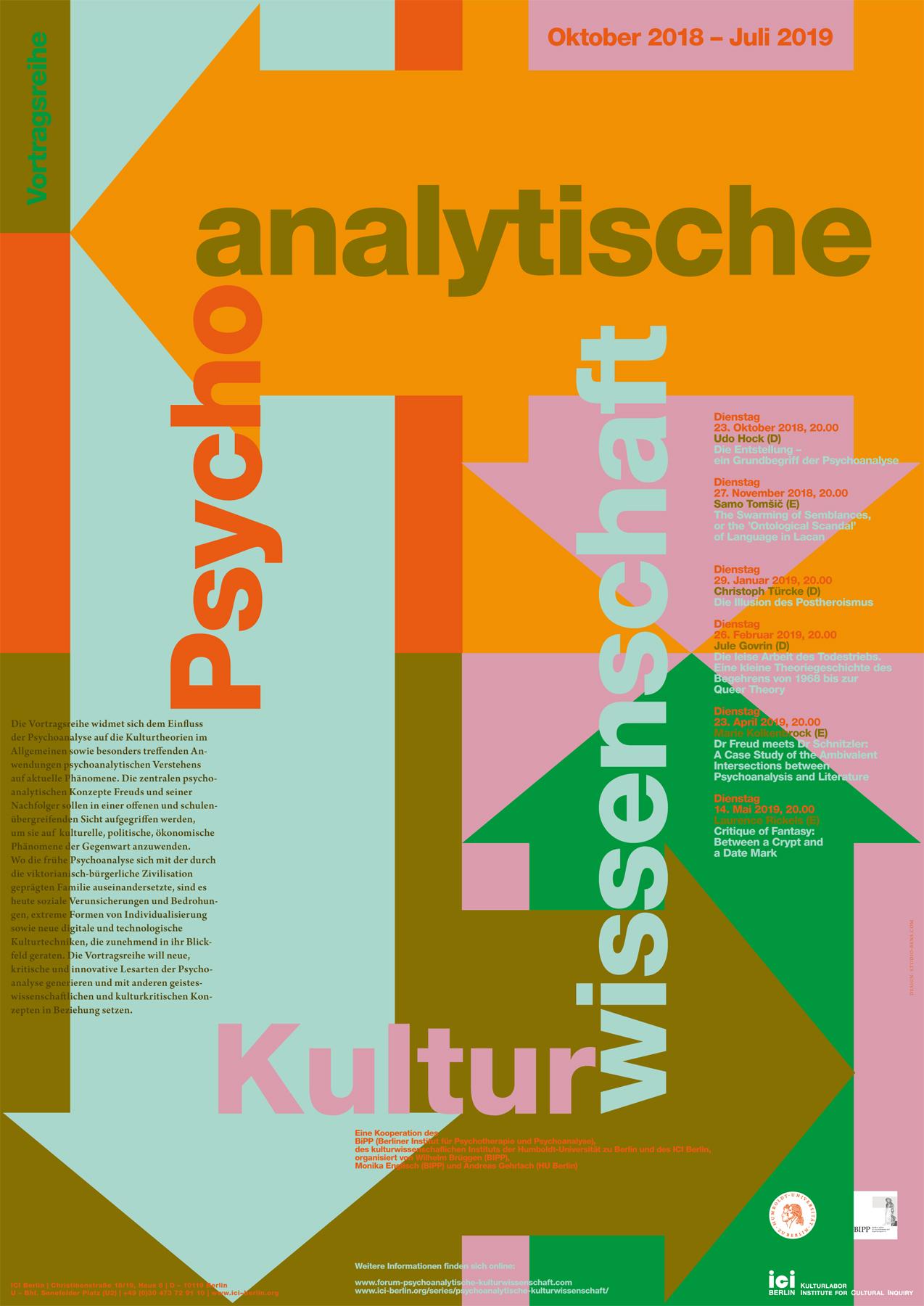 Poster Psychoanalytische Kulturwissenschaften