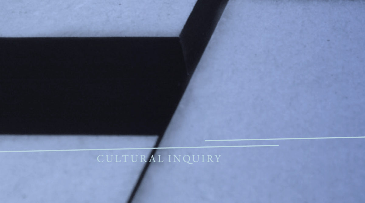 Cover Cultural Inquiry