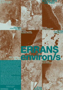 ERRANS, environ/s brICI Lecture Series  2019-20