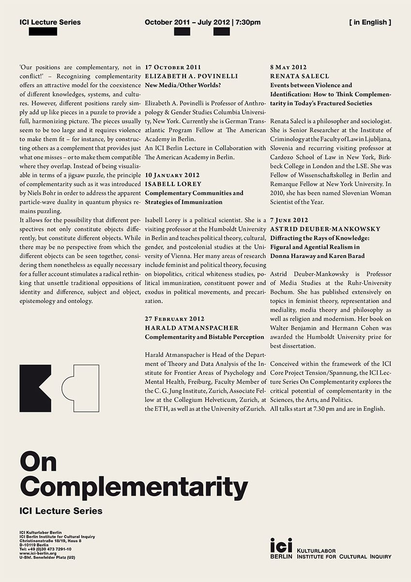 On-complementarity-lecture-series-poster